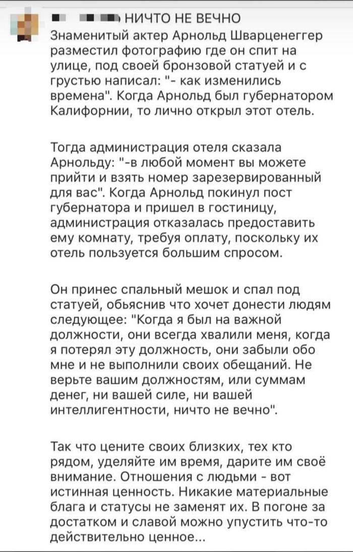 Арни настоящий человек Арнольд Шварценеггер, О времена о нравы, Жадность, Капитализм, Длиннопост