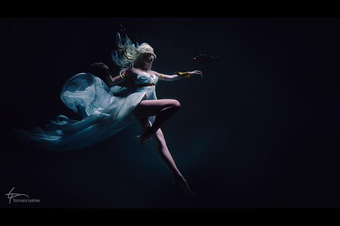 Королева Азшара WOW, World of Warcraft, Косплей, Фотография, Подводная съемка, Игры, Длиннопост