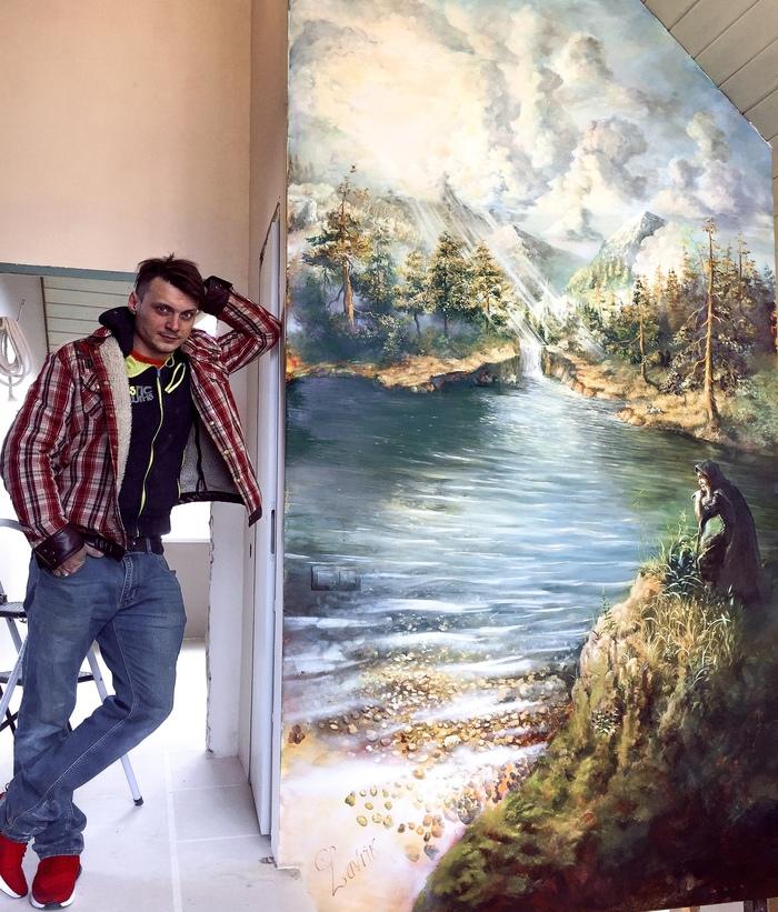 Роспись стен маслом