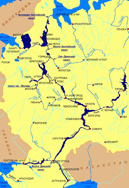 Водные пути России. Река, Водный путь, Длиннопост, Канал, Судоходство, Россия