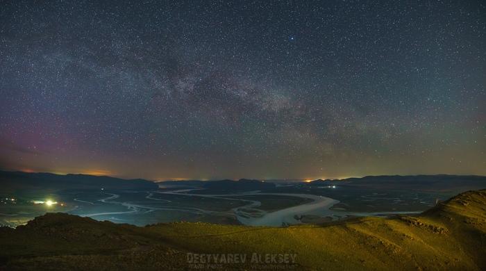 Ночью на горе Куня. Космос, Небо, Млечный путь, Астрофото, Астропейзаж, Планеты и звезды, Ночь