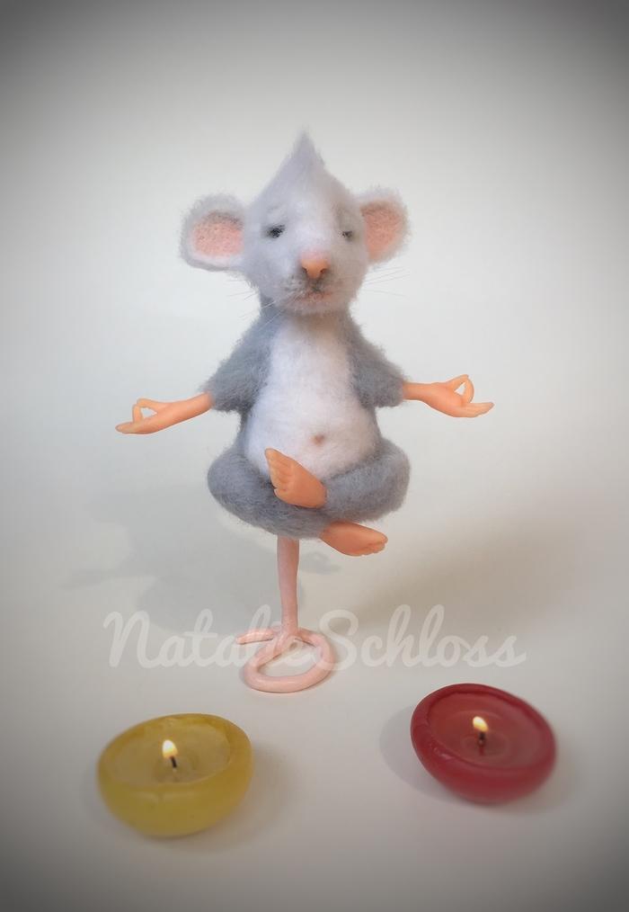Оммм... Мышь, Йога, Медитация, Сухое валяние, Рукоделие без процесса, Длиннопост, Крыса