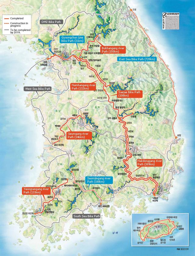 """Немного про ВЕЛОинфраструктуру в Южной Корее. Проект """"Four Rivers Bicycle Roads"""". Южная Корея, Велодорожка, Инфраструктура, Велосипед, Страна веломечты, Длиннопост"""