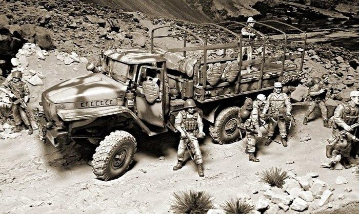 Охотники за караванами Моделизм, Стендовый моделизм, Война в Афганистане, Длиннопост