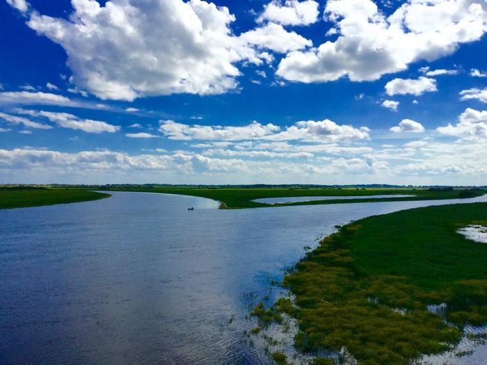 Одинокий рыбак Облака, Рыбак, Великий Новгород, Фотография