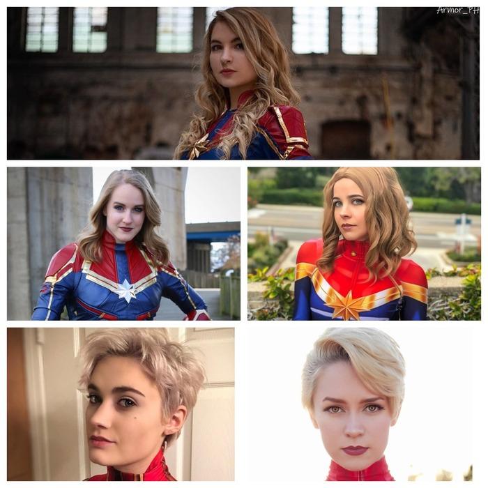 Капитан Марвел - разные взгляды. Косплей, Капитан Марвел, Блондинка, Красивая девушка, Marvel, Взгляд, Длиннопост, Косплеерши