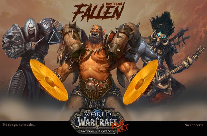 Boys-band WOW, World of Warcraft, Арт, Король Лич, Гаррош Адский Крик, Бвонсамди, Длиннопост
