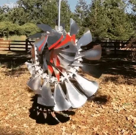 Кинетический ветряк из нержавеющей стали