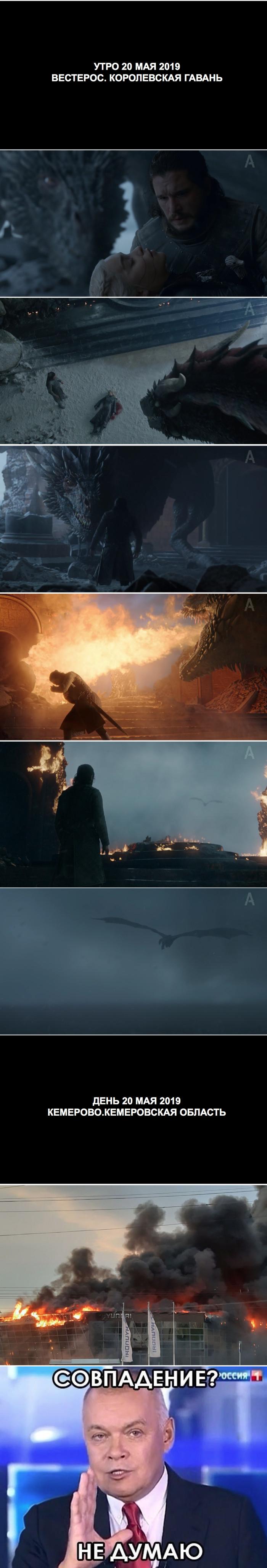 Дракарис ! Игра престолов, Спойлер, Кемерово, Пожар, Киселев, Совпадение, Дракон, Длиннопост