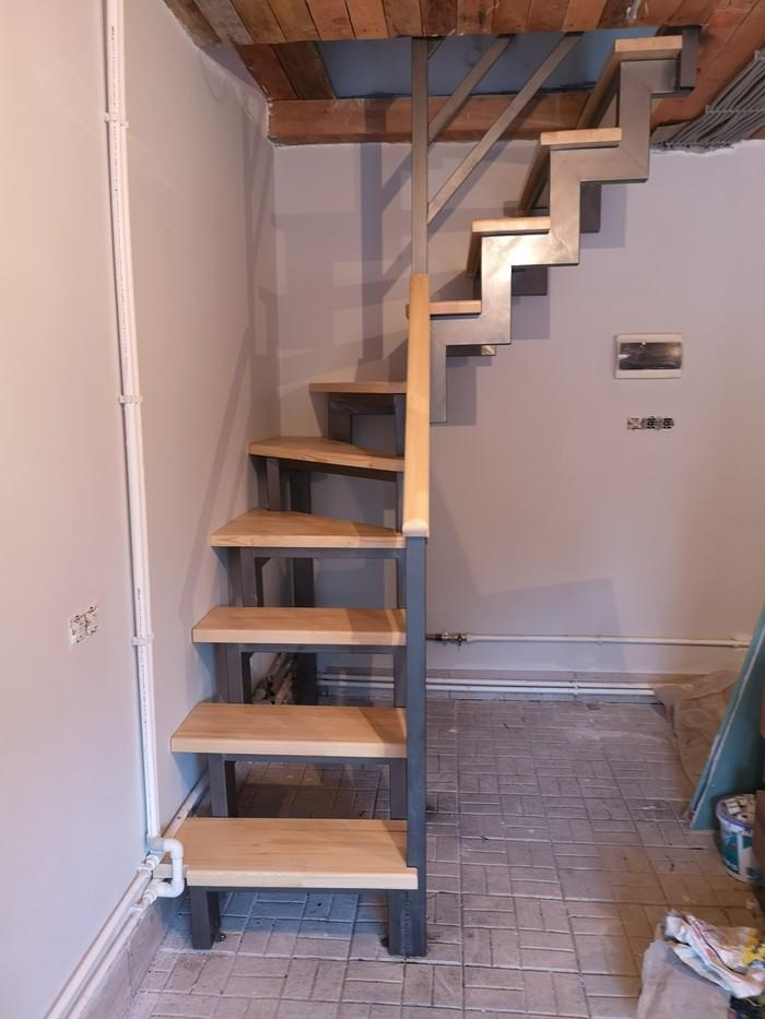 Лестница в гараже в стиле лофт Строительство, Ремонт, Гараж, Стиль лофт, Лофт, Лестница, Длиннопост