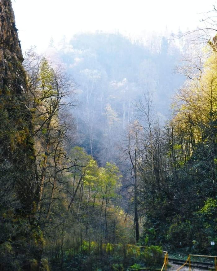 Гуамское ущелье Природа, Фотография, Краснодарский Край, Гуамское ущелье, Кавказ, Nikon, Длиннопост