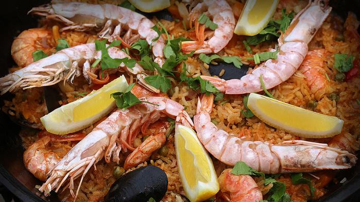 Испанская паэлья | Почти плов с морепродуктами Еда, Рецепт, Паэлья, Плов, Длиннопост, Видео, Морепродукты, Кулинария