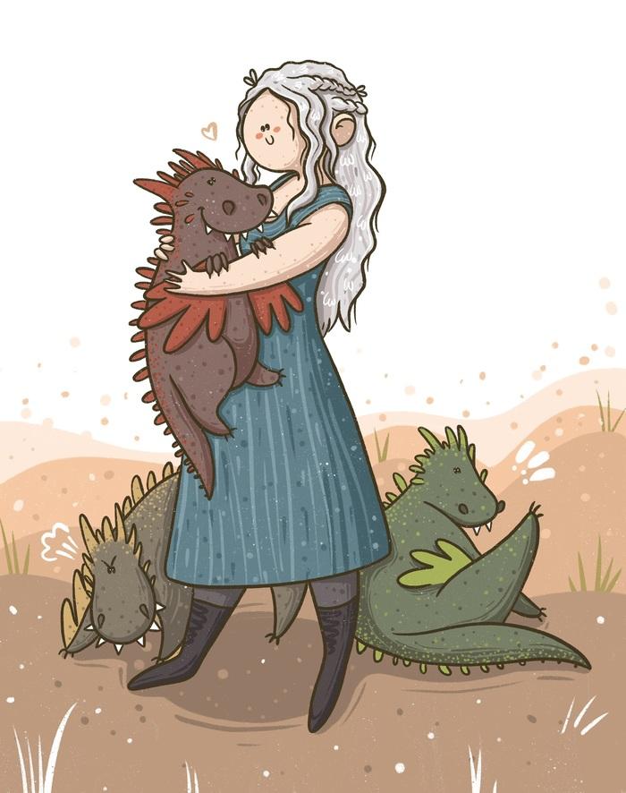 Мать драконов Игра престолов, Мать драконов, Дейенерис Таргариен, Арт