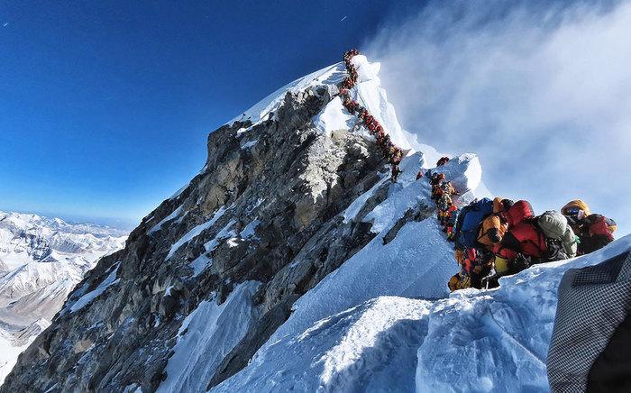 В огромной очереди на Эверест погибли несколько альпинистов Фотография, Эверест, Слабоумие и отвага, Пейзаж, Очередь