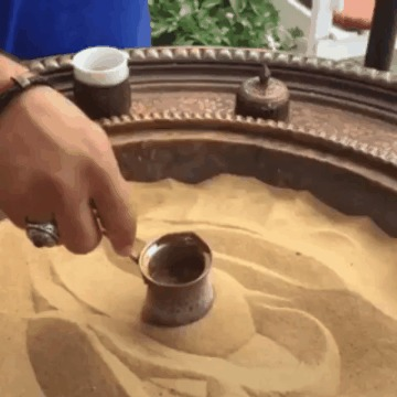 Кофе по-турецки на песке