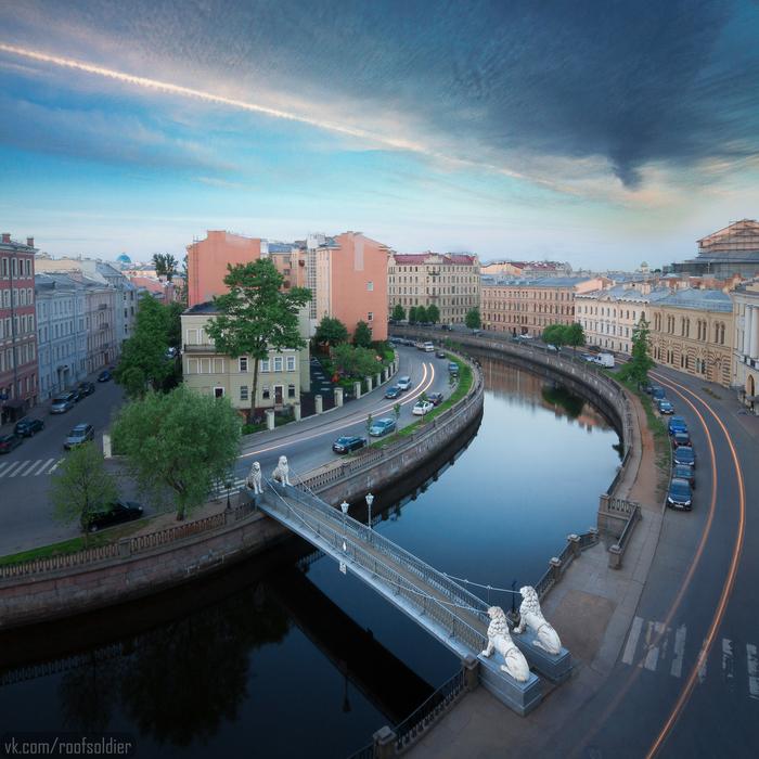 Львиный мост, канал Грибоедова Санкт-Петербург, Городские пейзажи, Алексей Голубев, Фотограф, Фотография, Открытка, Крыша