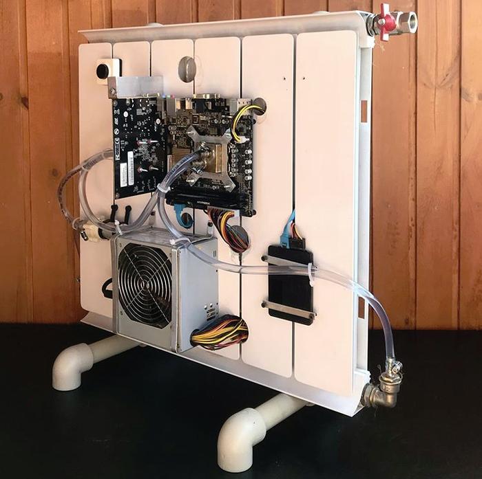 Пассивное охлаждение компьютера при помощи радиатора Компьютер, Моддинг, Своими руками, ПК, Длиннопост