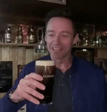 """Хью Джекман только в 50 лет впервые выпил настоящего """"Гиннесса"""" в Ирландии"""