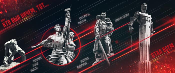 Кто был ничем… Политика, Рабство, Фашизм, Космос, Освобождение, СССР, Социализм, Плакат
