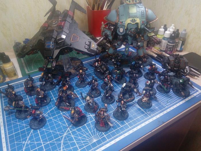 Армия Deathwatch для Warhammer 40k Солдатики, Warhammer 40k, Покраска миниатюр, Длиннопост