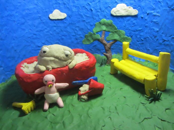 Как я продолжила делать пластилиновый мультфильм-3. Песочница и пупс Песочница, Пластилиновая анимация, Мультфильмы, Песок, Пупс, Дети, Видео, Длиннопост