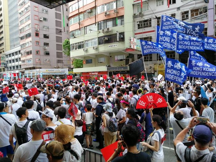 Последствия колонизации Гонконг, Демонстрация, Гражданское общество, Демократия, Видео, Длиннопост