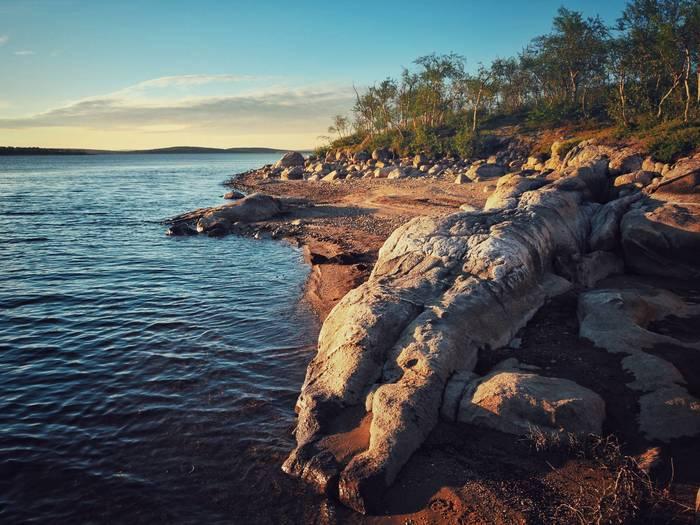Окаменевшая пляжница на берегу Серебрянского водохранилища Фотография, Пейзаж, Мурманская область, Путешествия, Olympus