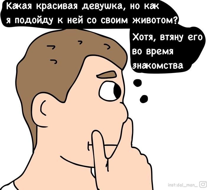 Втяну живот Комиксы, Знакомства, Отношения, Любовь, Обман, Толстый, Длиннопост