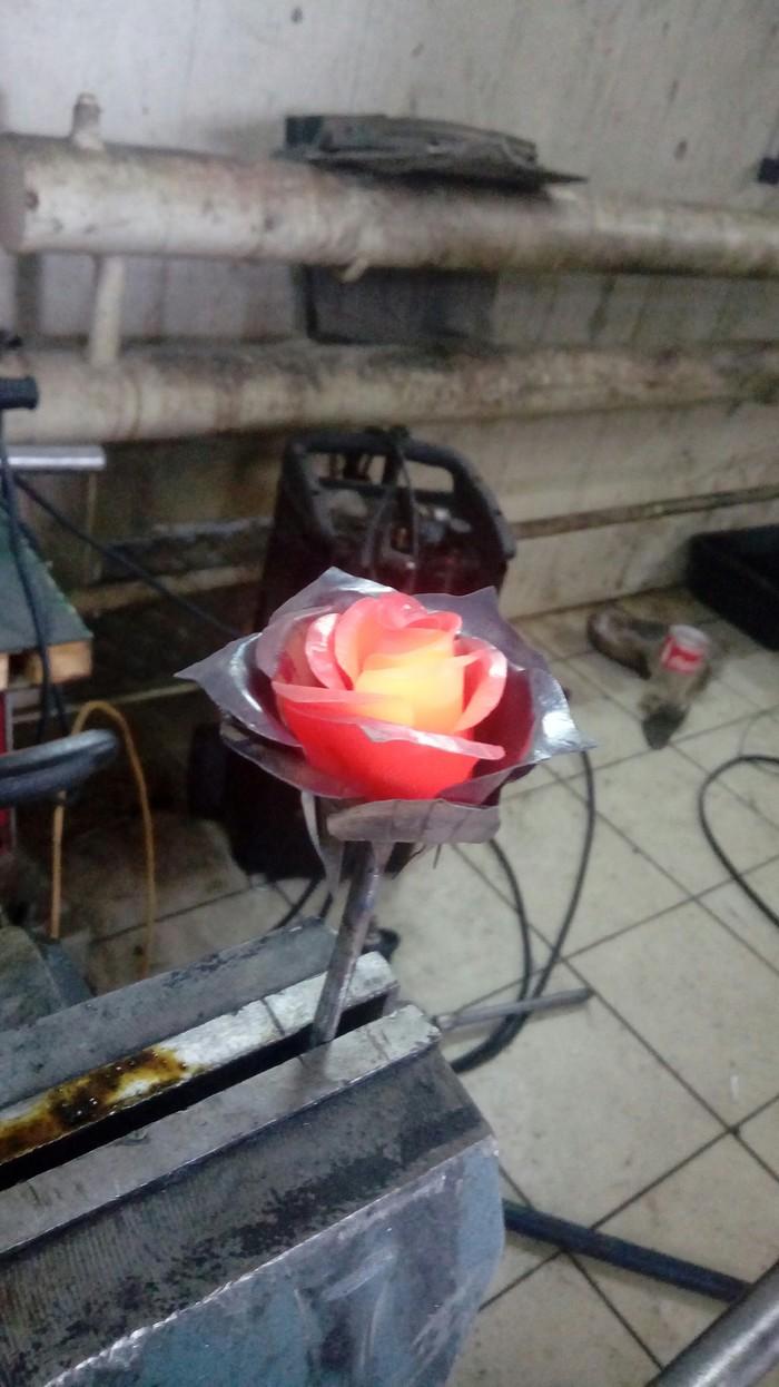 К посту о розе из металла Роза, Металл, Кузнец, Своими руками, Горячо, Длиннопост