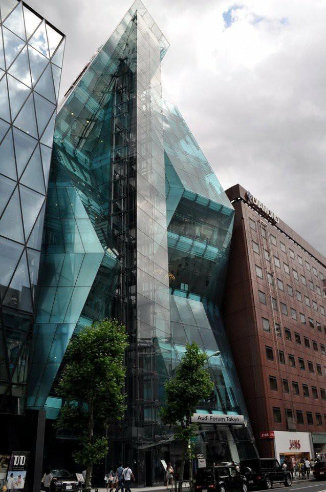 Здание компании Audi в Токио Здание, Архитектура, Япония, Токио