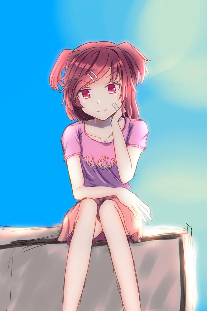 What's up, nerd Doki Doki Literature Club, Natsuki, Anime Art, Визуальная новелла