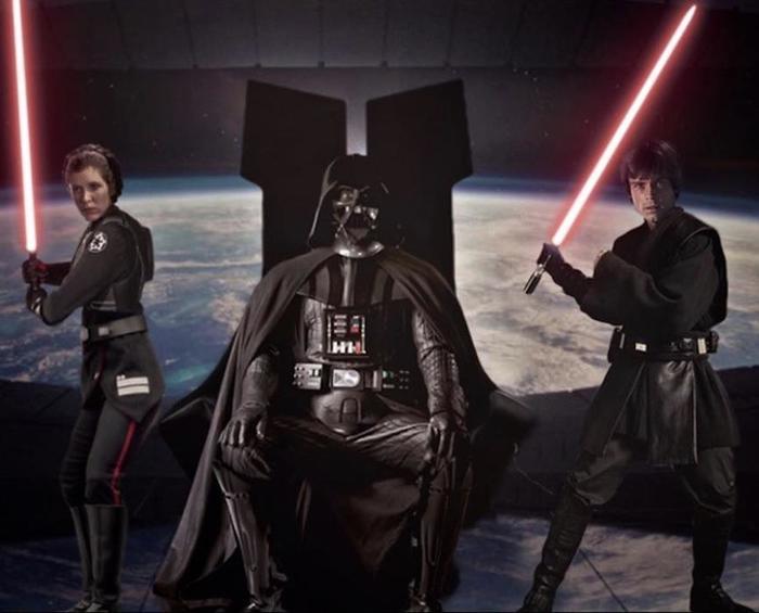 Где-то в далекой-далекой параллельной вселенной... Star Wars, Дарт Вейдер, Люк Скайуокер, Принцесса Лея, Параллельная вселенная, Ситхи