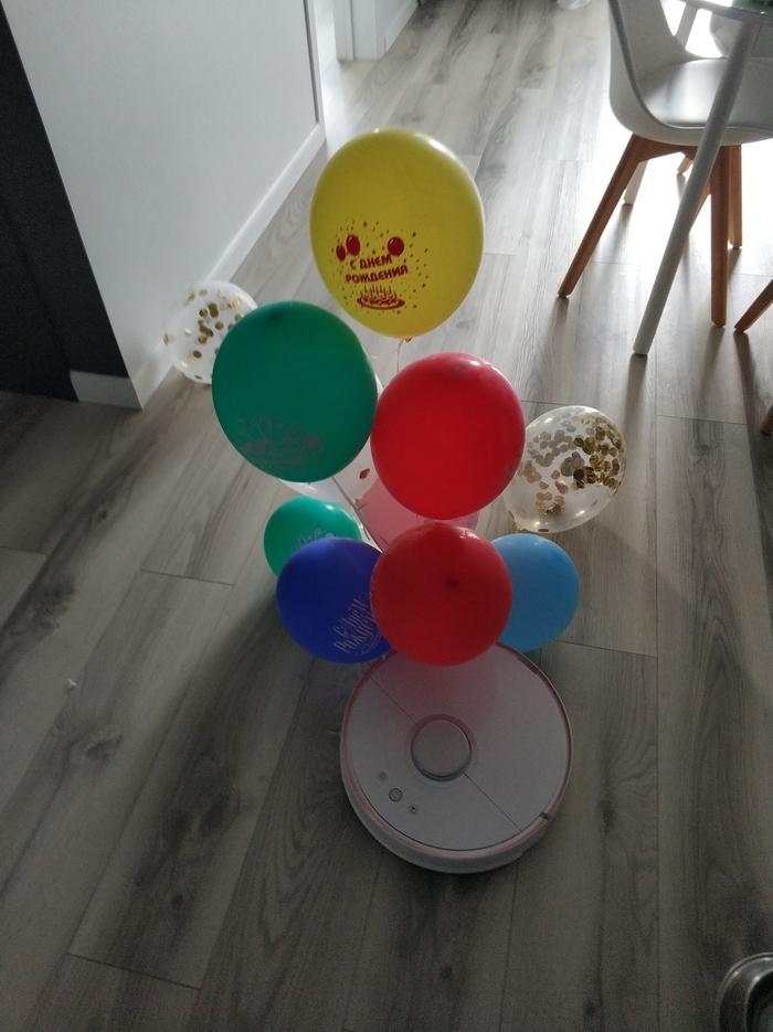 Когда тебя ждут дома... Робот-Пылесос, Техника, День рождения, Питомец, Ждун, Длиннопост