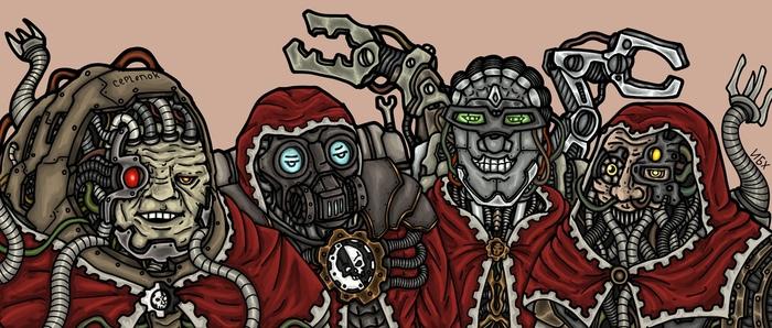 Я и парни Wh humor, Crossover, Ork, Alpha-Legion, Techpriest, Me and the boys, Warhammer 40k