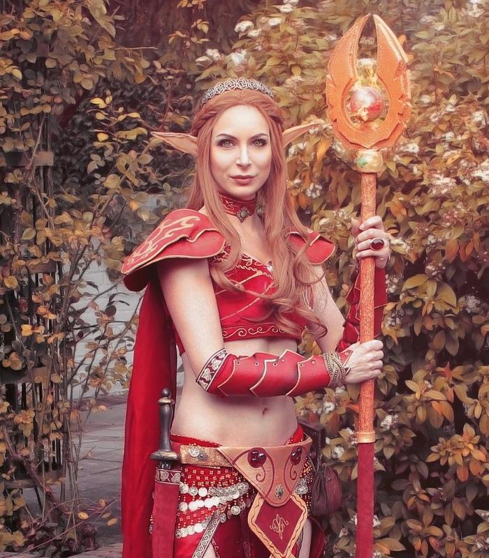 Elf from World of Warcraft Tropical Elf, World of Warcraft, Косплей, Красивая девушка, Длиннопост