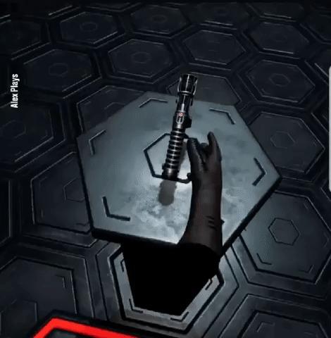 При использовании светового меча соблюдайте технику безопасности