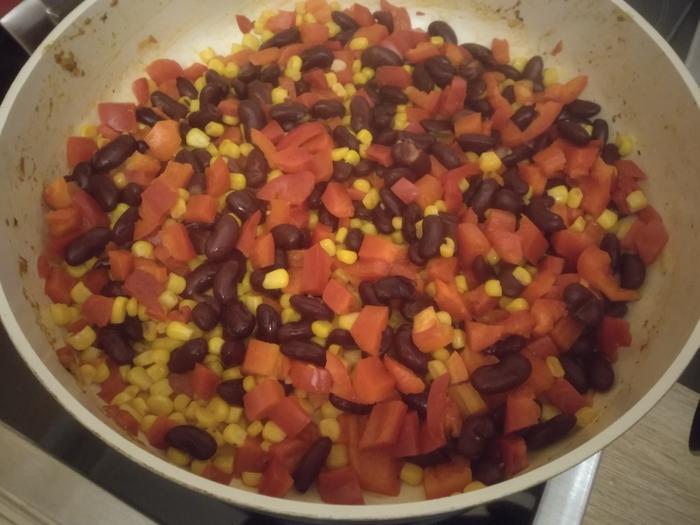 Буррито с креветками и овощами Вкусно, Быстро, Буррито, Мексиканская кухня, Лепешки, Креветки, Овощи и фрукты, Длиннопост