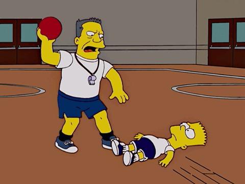 Симпсоны на каждый день [1_Декабря] Симпсоны, Каждый день, Баскетбол, Джеймс Нейсмит, Баскетболист, Гифка, Длиннопост