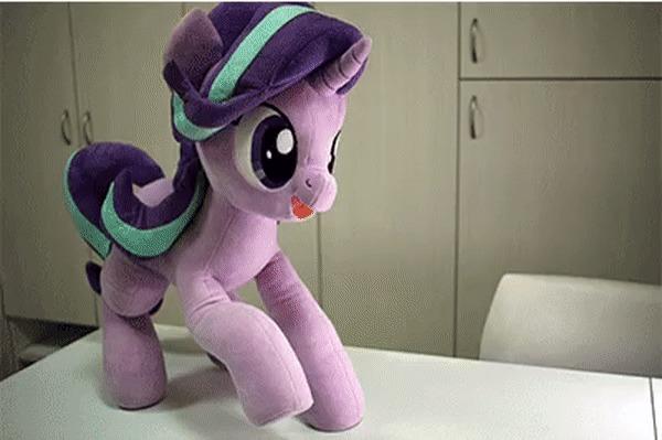 Когда пополнила коллекцию воздушных змеев. My Little Pony, Starlight Glimmer, IRL, Плюшевые игрушки, Гифка, Nekokevin