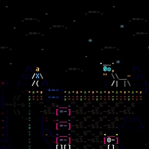 Женский персонаж текстовыми символами для игры ASCIIDENT - встроенный редактор Indiedev, ASCII, Asciident, Gamedev, Моды, Гифка, Видео