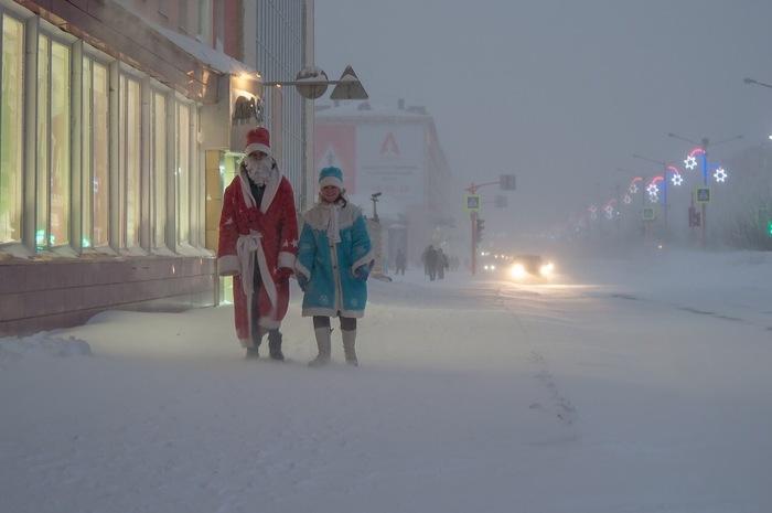 Новогодний Норильск Норильск, Фотография, Холод, Люди, Россия, Зима, Длиннопост
