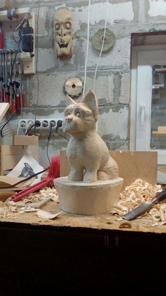 """Бобёр и пёс или """"злой мохнатый зверь"""" Резьба по дереву, Своими руками, Скульптура, Собака, Собачники, Рукоделие с процессом, Видео, Ручная работа, Длиннопост"""