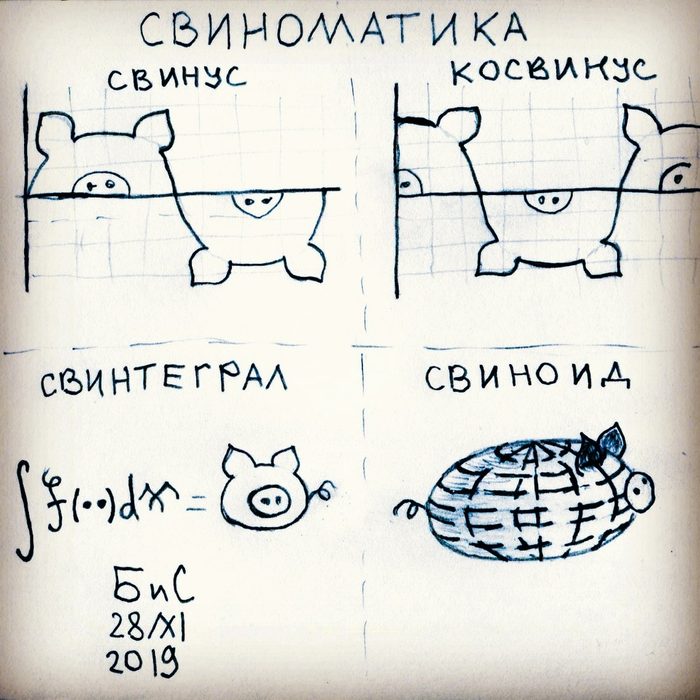 Свиноматика Свинья, Математика, Комиксы