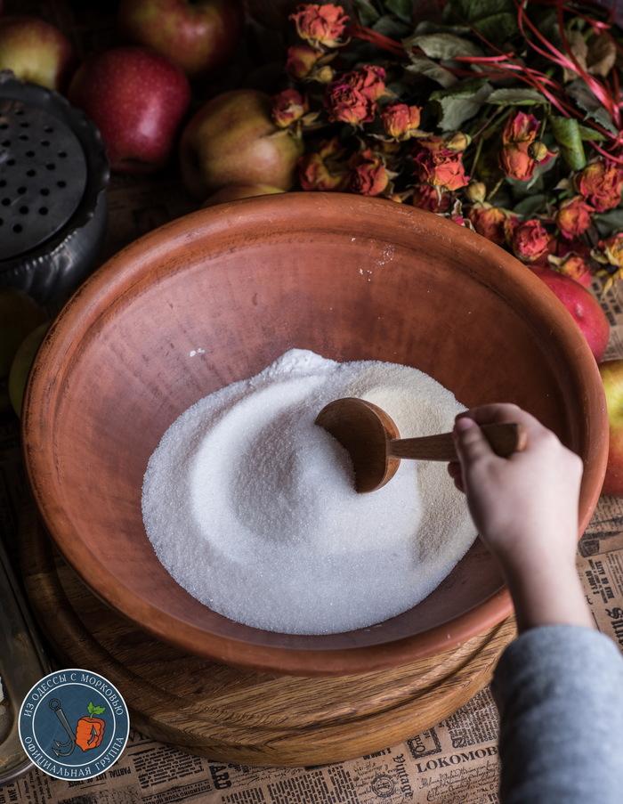 Тотально яблочный пирог. Из Одессы с морковью, Рецепт, Длиннопост, Кулинария, Еда, Фотография, Пирог