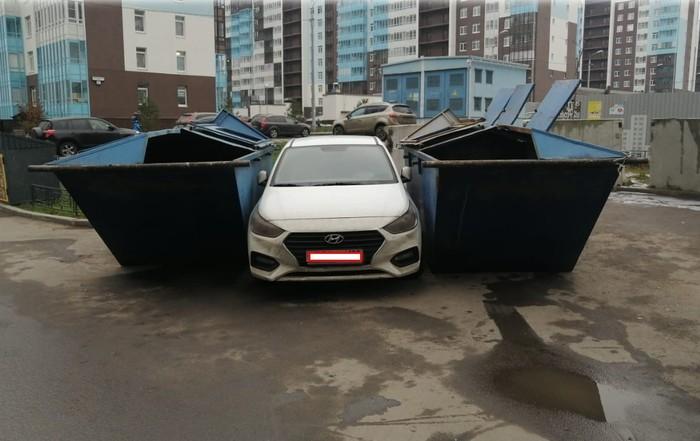 Жестокая месть мусоровоза Авто, Парковка, Неправильная парковка, Месть, Мусоровоз, Негатив, Длиннопост