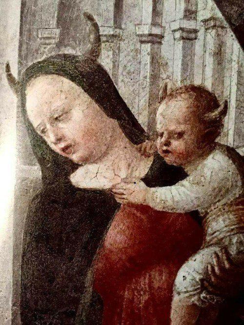 Мадонна с рогами. Небольшая история одной фрески История искусств, История, Мадонна, Длиннопост