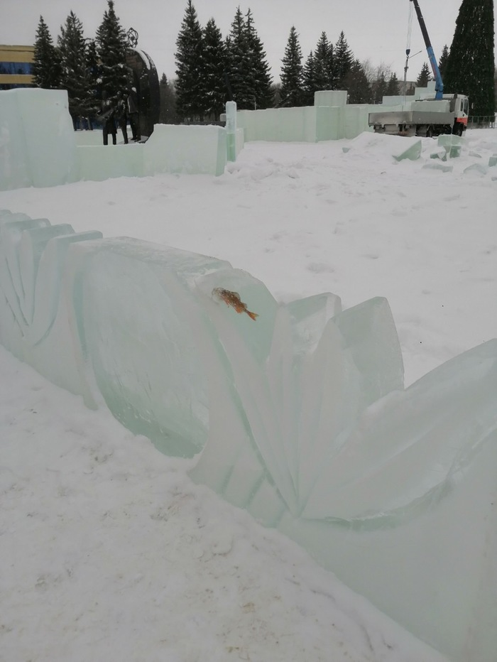 Суровый сибирский ледяной городок