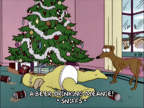 Симпсоны на каждый день [26_Декабря] Симпсоны, Каждый день, Подарки, Гифка