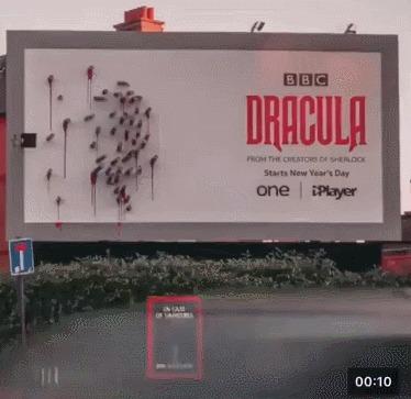 Рекламный щит Дракулы от BBC