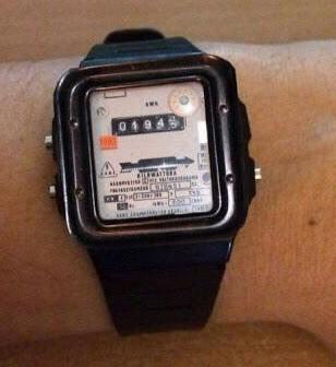 Часы в стиле счетчика электроэнергии 2